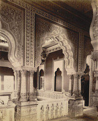 LV [Lakshmi Vilas] Palace, Upper portion of the same Stair case [Vadodara]